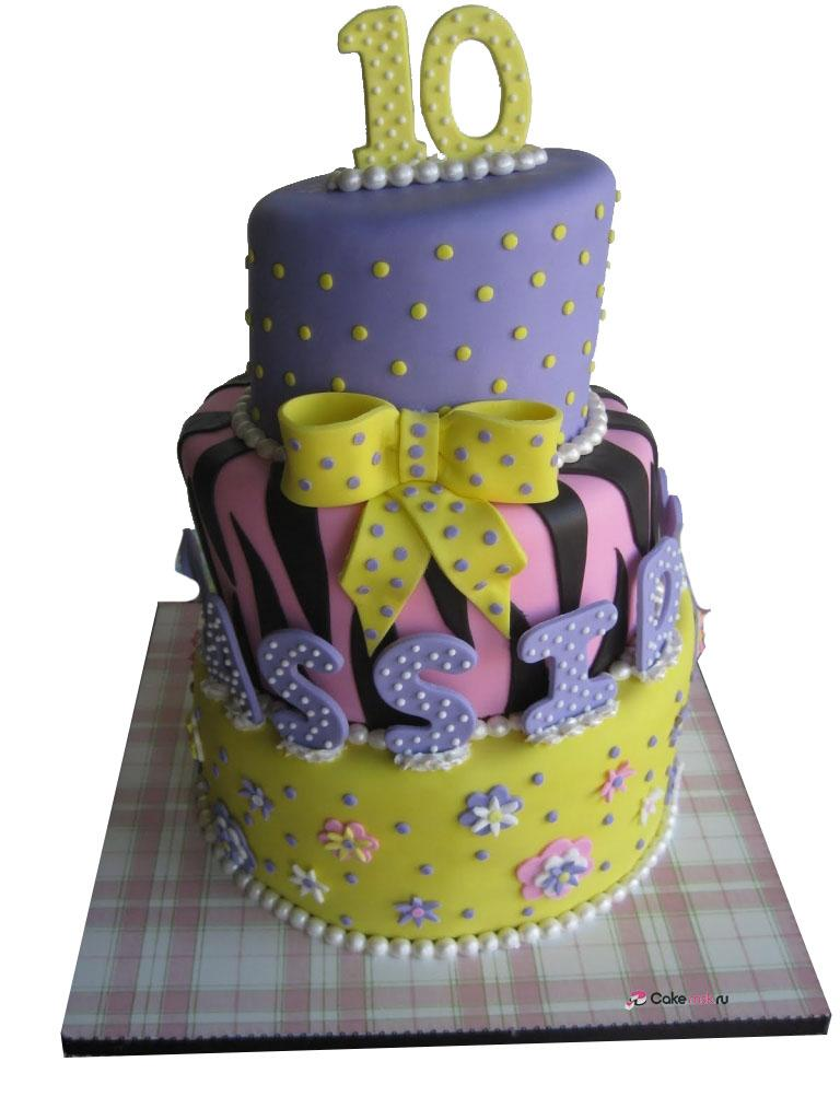 10 Year Old Birthday Cakes Sugar Chef Cassidy39s 10th Birthday Cake - Decor Cake Picture for Parties