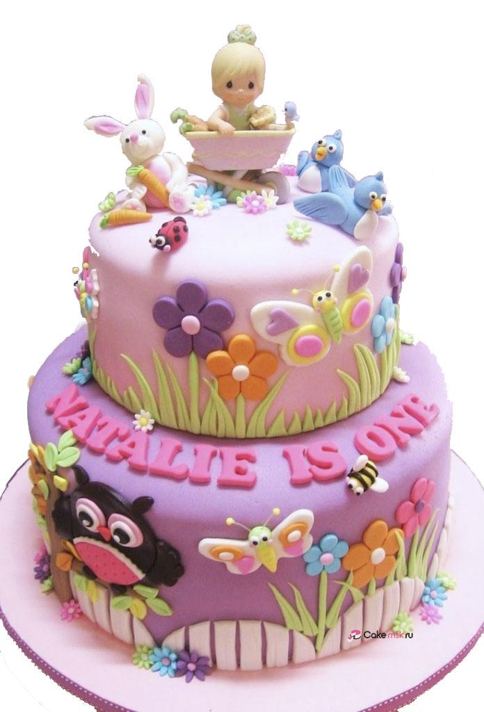1st Birthday Cake For Girl Ba39s 1st Birthday Cakes On Pinterest Christening Cakes 1st - Decor Cake Picture for Parties