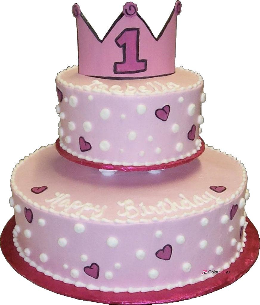 1st Birthday Princess Cake 12 Princess 1st Birthday Buttercream Cakes Photo 3 Tier Princess - Decor Cake Picture for Parties