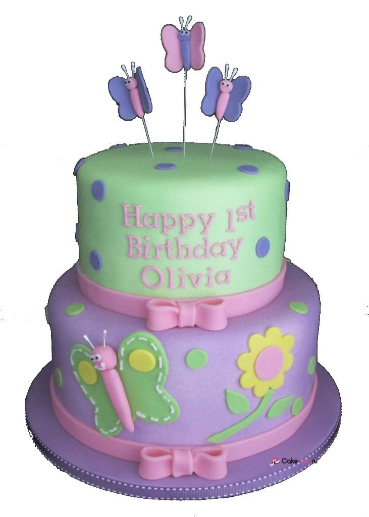 2 Tier Birthday Cake 13 2 Tier Birthday Cakes With Butterflies Photo Two Tier - Decor Cake Picture for Parties
